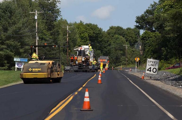 Randolph VT Route 66 Reclaim Construction Inspection